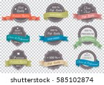 premium quality labels on... | Shutterstock .eps vector #585102874