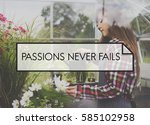 awesome fabulous passion... | Shutterstock . vector #585102958