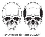 human evil skull vector.  | Shutterstock .eps vector #585106204