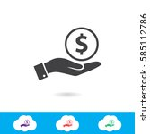 dollar vector icon | Shutterstock .eps vector #585112786