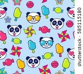 blue childish seamless pattern... | Shutterstock .eps vector #585115180