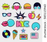 american trendy color patches ... | Shutterstock .eps vector #585115960