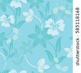 seamless flowers pattern | Shutterstock .eps vector #585118168