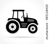 Illustration Of Tractor On...