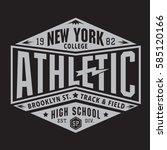 athletic sport new york...   Shutterstock .eps vector #585120166