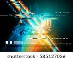 a glitch noise distortion... | Shutterstock .eps vector #585127036