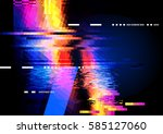 a glitch noise distortion... | Shutterstock .eps vector #585127060