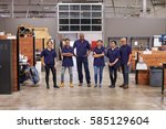 portrait of engineers and... | Shutterstock . vector #585129604