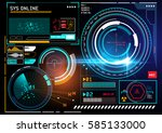 a futuristic hud display user... | Shutterstock .eps vector #585133000