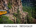 coming around the mountain the... | Shutterstock . vector #585141619