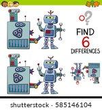 cartoon illustration of finding ... | Shutterstock .eps vector #585146104
