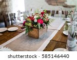 wedding rustic decoration with... | Shutterstock . vector #585146440