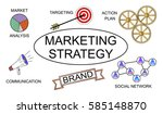 marketing strategy concept on... | Shutterstock . vector #585148870