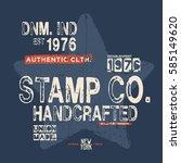 grunge effected vector graphic... | Shutterstock .eps vector #585149620