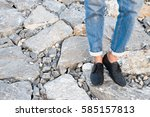 footwear girl fashion  | Shutterstock . vector #585157813