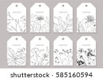 set of labels  posters ... | Shutterstock .eps vector #585160594