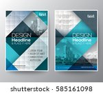 blue and teal diagonal line... | Shutterstock .eps vector #585161098
