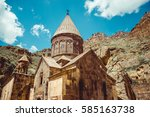 geghardavank or geghard... | Shutterstock . vector #585163738
