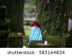 world heritage in japan monk... | Shutterstock . vector #585164824
