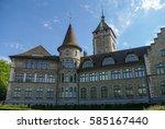 view of swiss national museum ...   Shutterstock . vector #585167440