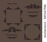 vector set calligraphic design...   Shutterstock .eps vector #585167986