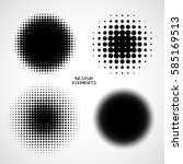 simple abstract halftone... | Shutterstock . vector #585169513