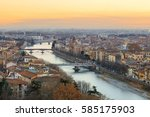 panorama of verona historical... | Shutterstock . vector #585175903