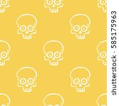 seamless pattern with hand... | Shutterstock .eps vector #585175963