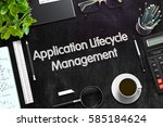 application lifecycle... | Shutterstock . vector #585184624