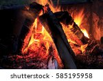 campfire in algonquin... | Shutterstock . vector #585195958