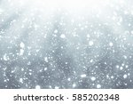 abstract silver background with ... | Shutterstock . vector #585202348