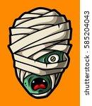 Cartoon Mummy Head