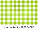 watercolor lime green checked... | Shutterstock . vector #585204808