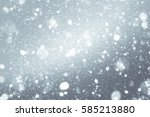 abstract silver background with ... | Shutterstock . vector #585213880