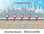 design template  road map... | Shutterstock .eps vector #585216448