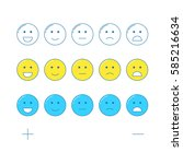 feedback emoticon scale. line... | Shutterstock .eps vector #585216634