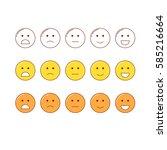 feedback emoticon scale. line... | Shutterstock .eps vector #585216664