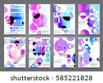 abstract background  brochure... | Shutterstock .eps vector #585221828