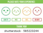 customer service rating. rate... | Shutterstock .eps vector #585223244