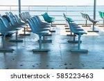 Empty seat on boat - stock photo