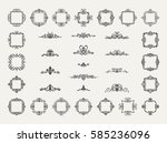 vintage decor elements and... | Shutterstock . vector #585236096
