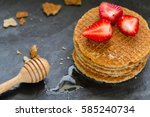 A Layers Of Stroopwafel With...