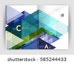 print template modern elegant... | Shutterstock .eps vector #585244433