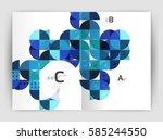 print template modern elegant... | Shutterstock .eps vector #585244550