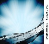 cinema background with film... | Shutterstock .eps vector #585252143