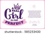 vector card template with pink... | Shutterstock .eps vector #585253430