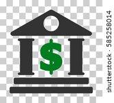 dollar bank icon. vector... | Shutterstock .eps vector #585258014