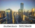 Golden Sunset At Melbourne Cit...