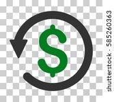 chargeback icon. vector...   Shutterstock .eps vector #585260363