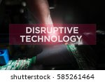 cyber security concept  close... | Shutterstock . vector #585261464
